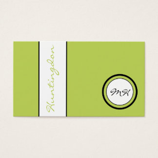 Custom-Colour Monogram and Name Loyalty Business Card