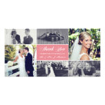 Custom Colour Newlyweds Thank You Photo Card