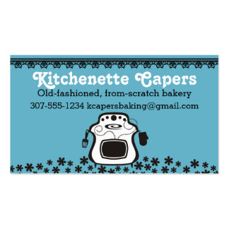 Custom colour oven stove flowers lace home bakery pack of standard business cards