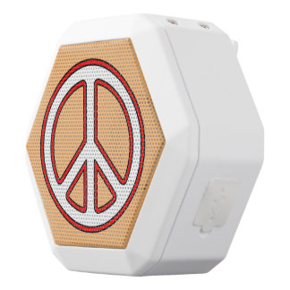 Custom Colour Peace and Harmony Boombot Speaker 1 White Boombot Rex Bluetooth Speaker
