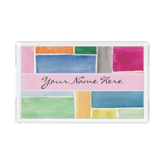 Custom Colourful Watercolor Rectangles