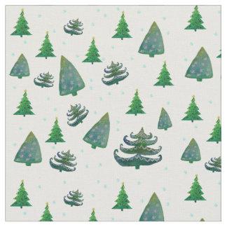 Custom Combed Cotton Fabric Christmas Trees