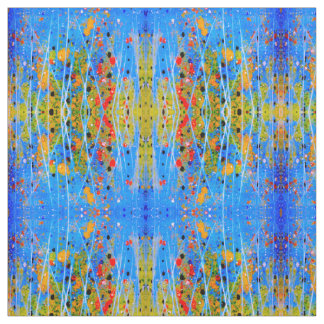 Custom Combed Cotton Fabric splashed-colors