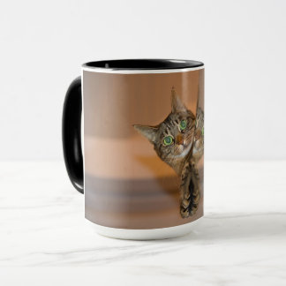 Custom, combo, mug, image, cat, black, handle, rim mug