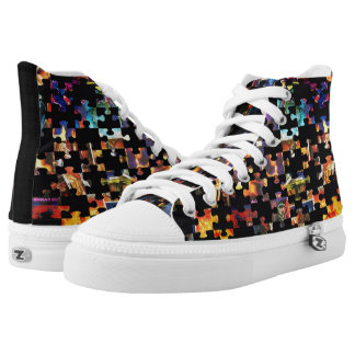 Custom Comic Puzzle Design Printed Shoes