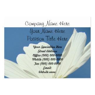 Custom Company Business Cards White Daisy Flower