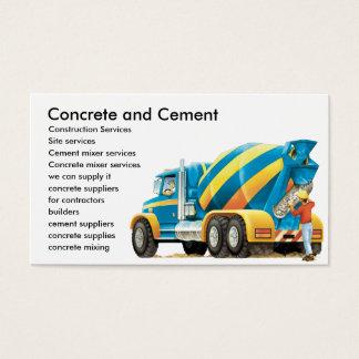 Custom Concrete Cement Construction Business Card