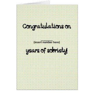 'Custom Congratulations' Funny Sobriety Card