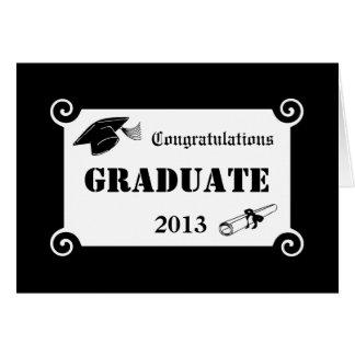 Custom Congratulations Graduate Greeting Card