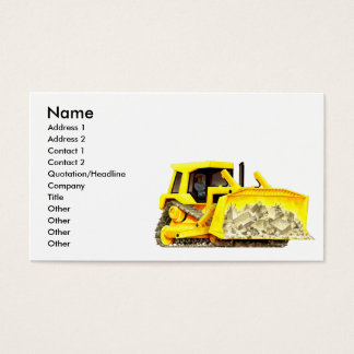 Custom Construction Bulldozer Business Cards