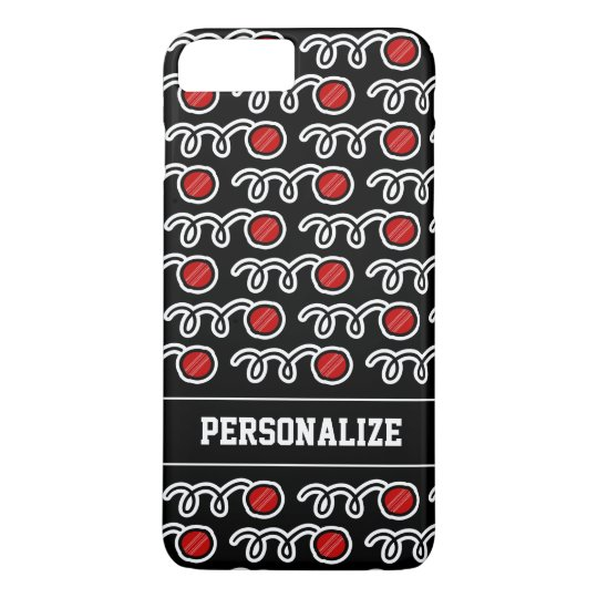 Custom cool cricket ball pattern sports design iPhone 7 plus case