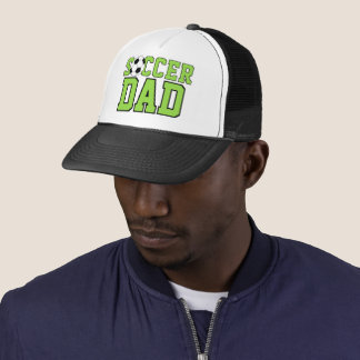 Custom Cool Fun Soccer Dad Text Trucker Hat