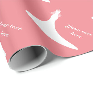 Custom coral pink bridal shower wrapping paper