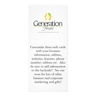 Custom corporate business Advertisement Rack cards