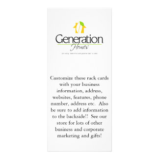 Custom corporate business Advertisement Rack cards