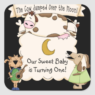 Custom Cow Jumped Over the Moon Stickers