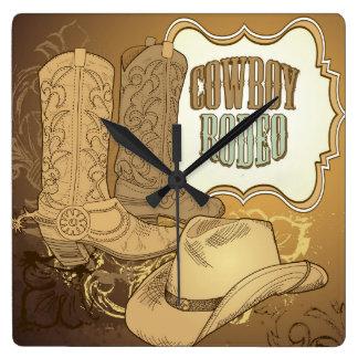 Custom Cowboy Rodeo Wall Clock