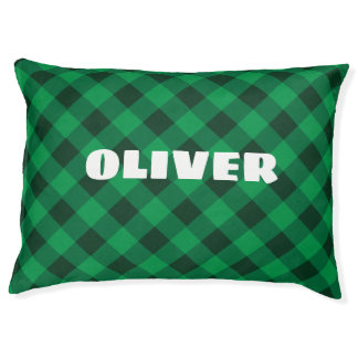 Custom Cozy Forest Green Dog Pillow. Pet Bed