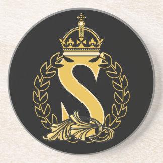 Custom Crown Monogram - S Coaster
