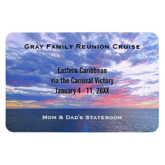 Custom Cruise Cabin Door Marker | Ocean Sunset Rectangular Photo Magnet