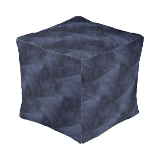 Custom Cubed Polyester Thump (Small) Denim Effect Pouf
