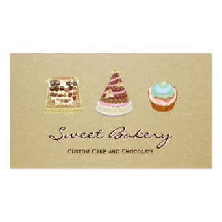 Custom Cupcake Cake Chocolate Bakery Store Pack Of Standard Business Cards