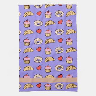 Custom Cupcake Pattern Towels