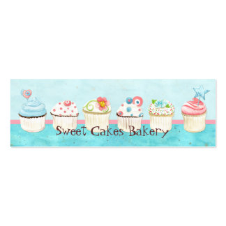 Custom Cupcake Sweet Shoppe Business Cards
