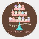 Custom Cupcake Sweet Shoppe Business Stickers Seal