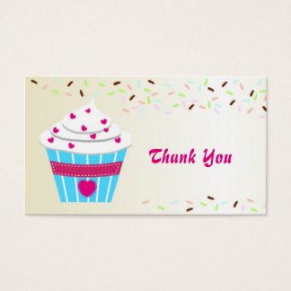 Custom Cupcake Thank You Business Card