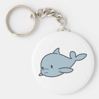 Custom Cute Baby Dolphin Cartoon Basic Round Button Key Ring