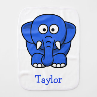 Custom Cute Funny Cartoon Elephant Burp Cloth