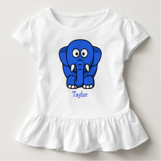 Custom Cute Funny Cartoon Elephant Toddler T-Shirt