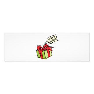 Custom Cute Gift Box with Merry Christmas Tag Mugs Art Photo