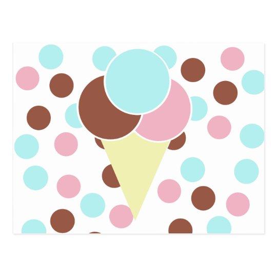 Custom Cute Ice Cream Cone Postcard
