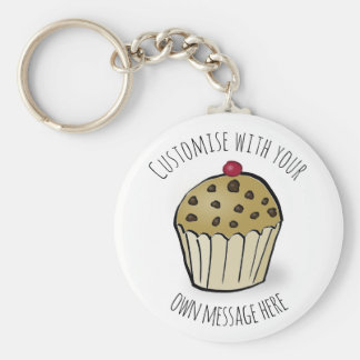 Custom Cute Mini Muffin Key Ring