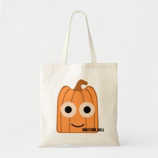 Custom Cute Pumpkin Trick or Treat Tote Bag