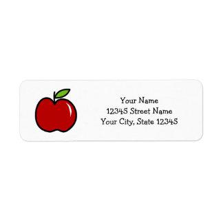 Custom cute red apple kindergarten school teacher return address label