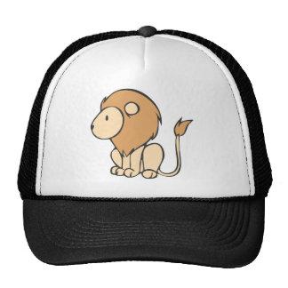 Custom Cute Sitting Baby Lion Cartoon Trucker Hats