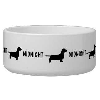 Custom Dachshund Dog Bowl