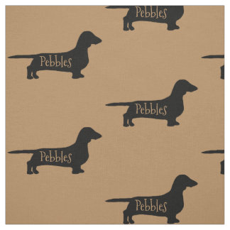 Custom Dachshund Dog Fabric
