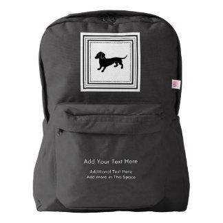 Custom Dachshund Walking Accessory Bag Backpack