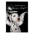 Custom Dalmatian Thank You - You're an Angel Card