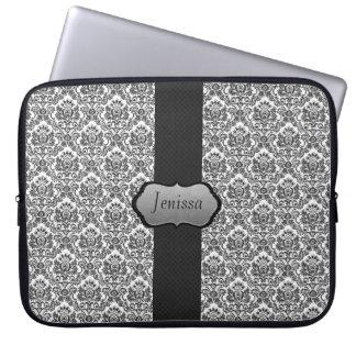 Custom Damask Laptop Sleeve