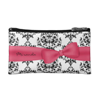 Custom Damask Make Up Bag