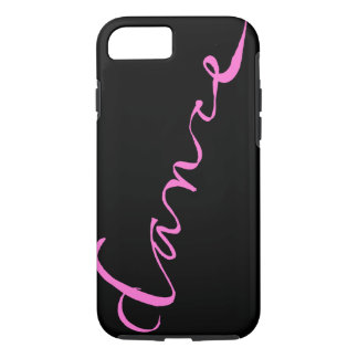 Custom Dance Script in Pink Lettering iPhone 8/7 Case