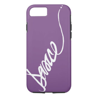 Custom Dance Script in White Lettering iPhone 8/7 Case