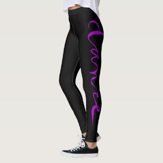 Custom Dance Script - Pink and Purple Leggings