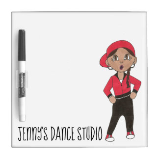 Custom Dance Studio Teacher Gift Hip Hop Jazz Dry Erase Board