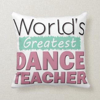Custom Dance Teacher Recognition Award Decorative Throw Pillow